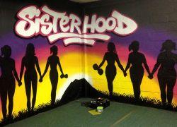 Womens-gym-mural