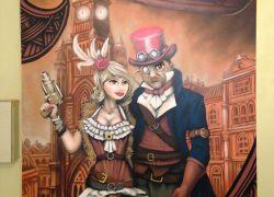 steampunk-mural
