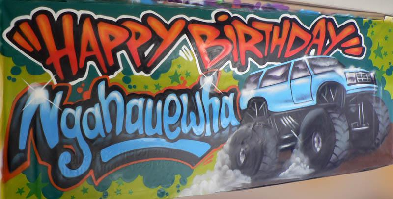 Auckland birthday banner