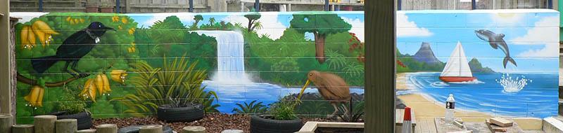 Auckland creche mural