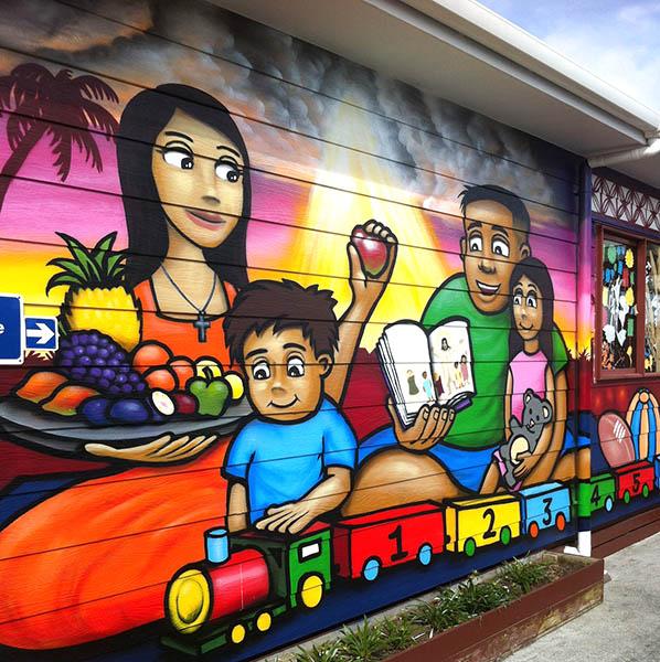 Auckland kindy mural