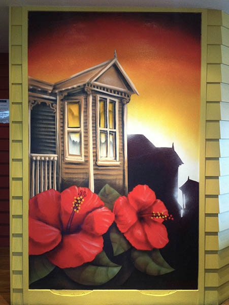 Auckland wall mural