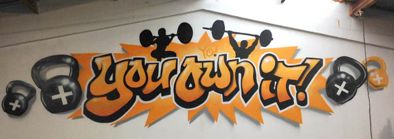 NZ gym graffiti