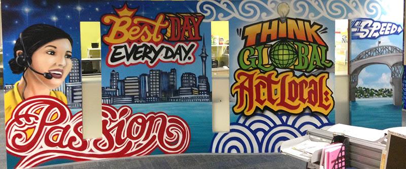 DHL office mural