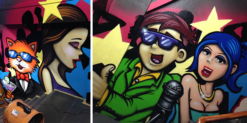 nightclub mural