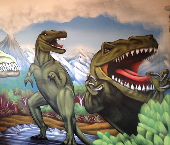 NZ Dinosaur mural