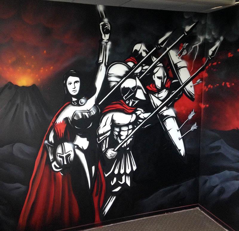 NZ Sparta mural