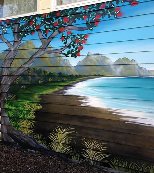 Pohutukawa mural