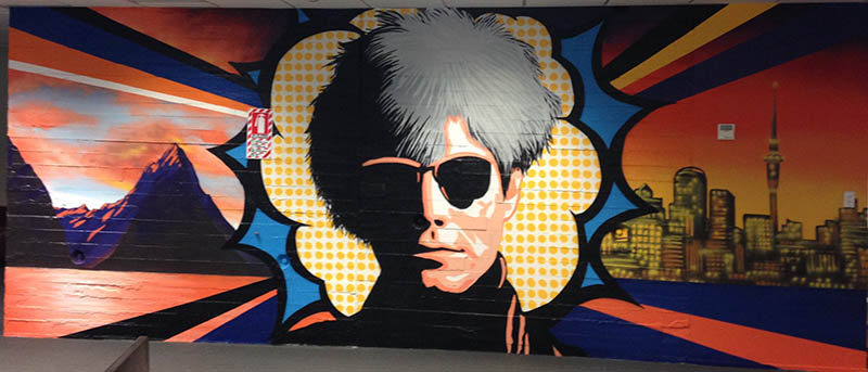 Warhol pop art mural
